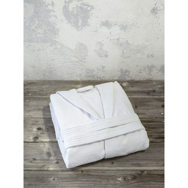 Μπουρνούζι με κουκούλα Zen - Extra Large - White